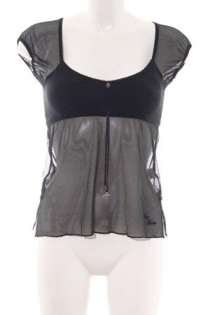 Vive Maria Netshirt zwart extravagante stijl
