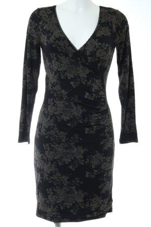 Vive Maria Vestido elástico negro-marrón grisáceo estampado floral