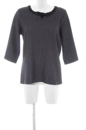 Vive Maria Sweatshirt schwarz-weiß abstraktes Muster klassischer Stil