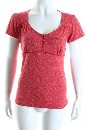 Vive Maria T-Shirt rot abstraktes Muster Romantik-Look
