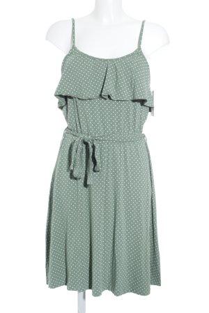 Vive Maria Trägerkleid graugrün Punktemuster Romantik-Look