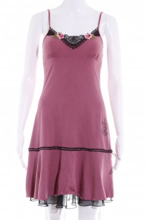 Vive Maria Trägerkleid rosa-schwarz Romantik-Look