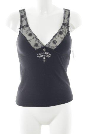 Vive Maria Tunika schwarz-weiß Elegant