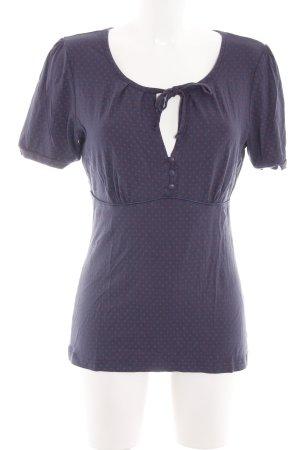 Vive Maria V-Ausschnitt-Shirt blau-rot Punktemuster Casual-Look