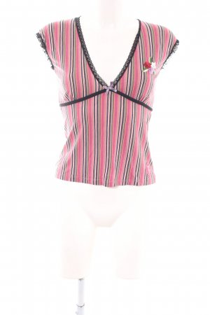Vive Maria V-Ausschnitt-Shirt Streifenmuster Casual-Look