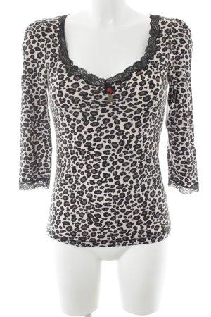 Vive Maria V-Ausschnitt-Shirt Leomuster Animal-Look