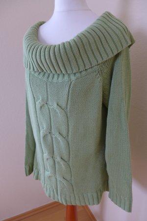 Viven Caron Pulli Pullover Carmen Rollkragen grün limette Gr. 40