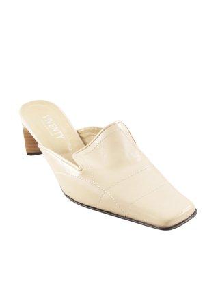 VIVENTY Bernd Berger Heel Pantolettes cream-beige elegant