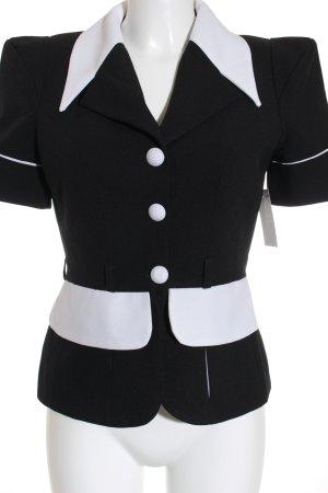 Vivian Exclusive Paris Kurz-Blazer schwarz-weiß Casual-Look