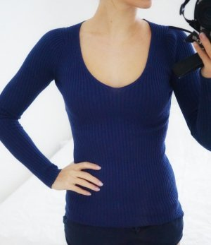 Vivian Ray Pullover blau Strick XS 34 NEU