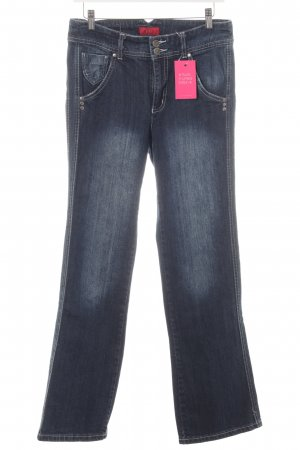 Vivien Caron Jeans a zampa d'elefante blu scuro-blu pallido stile casual