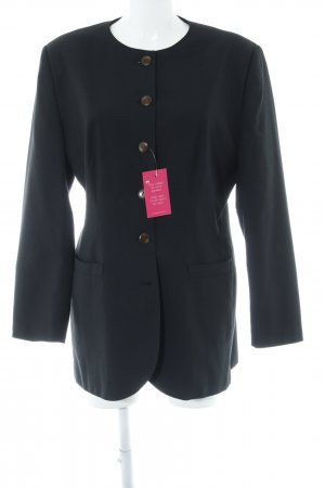 Vivien Caron Long-Blazer schwarz schlichter Stil