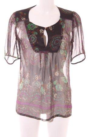 Vivien Caron Transparenz-Bluse Paisleymuster Gypsy-Look