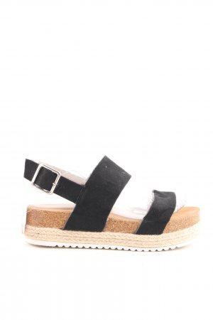 VIVIENNE Platform High-Heeled Sandal black-cream casual look