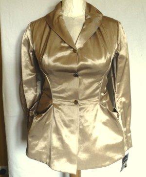 Vivienne Westwood Anglomania goldenes Satin-Kostüm, Größe IT 46 (EU 40) NEU
