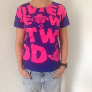 Vivienne Westwood *ANGLOMANIA T-Shirt neonpink/blau