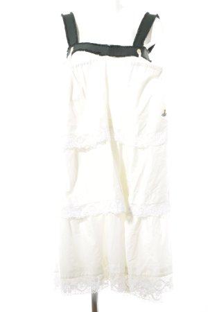 Vivienne Westwood Babydoll-jurk wolwit-donkergroen Azteken print