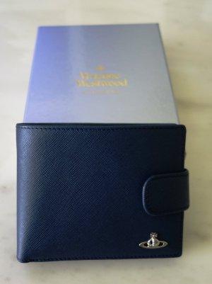 Vivienne Westwood Wallet dark blue-silver-colored leather