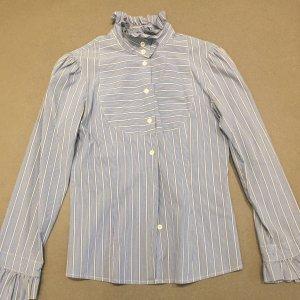 Vivienne Westwood Bluse blau/ weiss gestreift (zara)