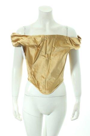 Vivienne Westwood Corsagen Top goldfarben Eleganz-Look