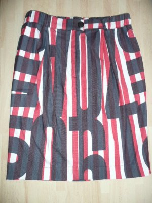 Vivienne Westwood Eyecatcher Rock A-Linie Schwarz Rot Weiß knielang Gr 38