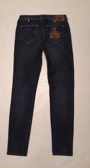 Vivienne Westwood for Lee Jeans dunkelblau Skinny-Jeans Röhrenjeans gerade geschnitten Denim Gr. 28