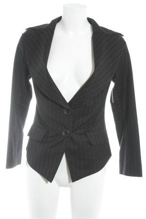 Vivienne Westwood Kurz-Blazer schwarz-ziegelrot Streifenmuster Business-Look