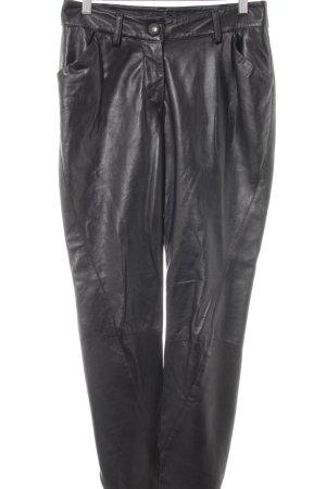 Vivienne Westwood Lederhose schwarz Casual-Look