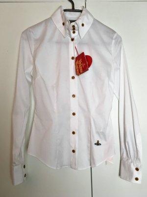 Vivienne Westwood Hemdblouse wit Gemengd weefsel