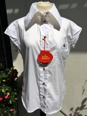 Vivienne Westwood Blusa-camisa blanco tejido mezclado