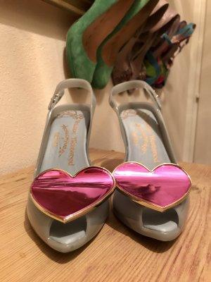 Vivienne Westwood Escarpins à bout ouvert bleu azur-violet