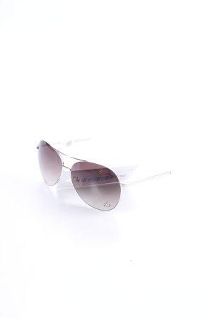 Vivienne Westwood Pilot Brille silberfarben-weiß Casual-Look
