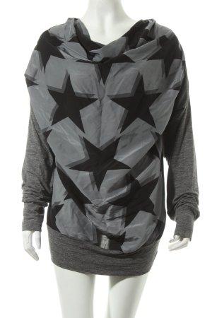 Vivienne Westwood Pullover grau-schwarz Sternenmuster Casual-Look