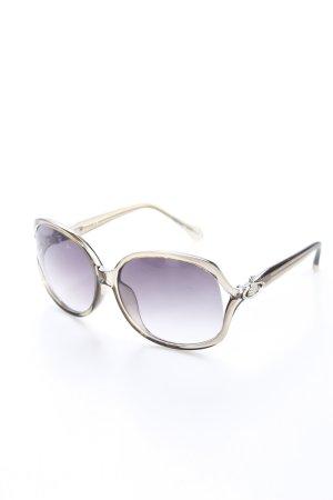 Vivienne Westwood Sonnenbrille hellbraun-graubraun Logo-Applikation aus Metall