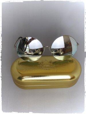 Vivienne Westwood Ronde zonnebril zilver