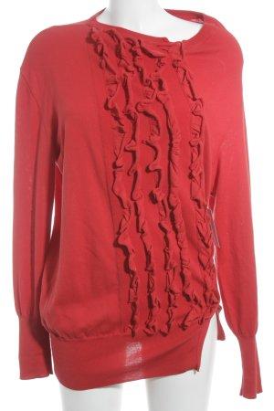 Vivienne Westwood Cárdigan de punto rojo elegante