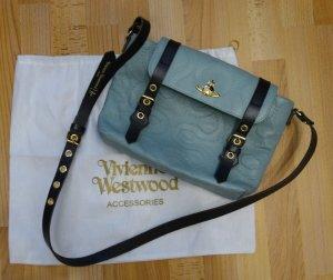Vivienne Westwood Tasche Messenger Bag NEW SQUIGGLE Leder mint x hellblau