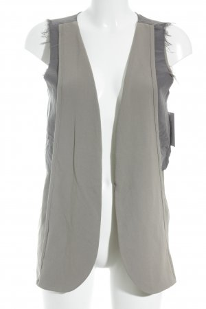 Vladimir Karaleev Long Knitted Vest grey-grey brown material mix look