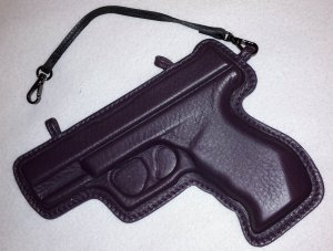 Vlieger & Vandam Taschenanhänger Gun Leder