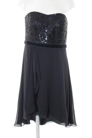 VM VERA MONT schulterfreies Kleid dunkelblau Elegant