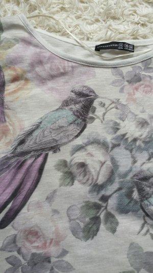 Vögel Shirt in Pastel Farben