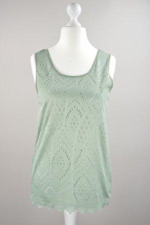 Vögele Shirt mit Lochmuster grün Größe S