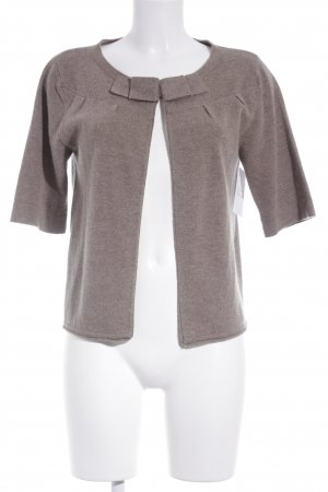 Vogue Short Sleeve Knitted Jacket grey brown casual look