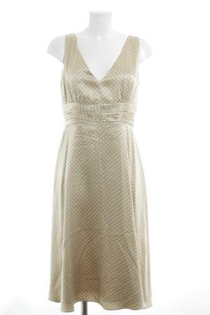 Vogue Abito midi beige-crema motivo a pallini elegante