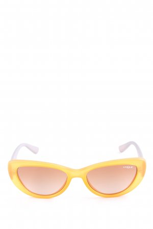 Vogue ovale Sonnenbrille dunkelorange-grau Street-Fashion-Look