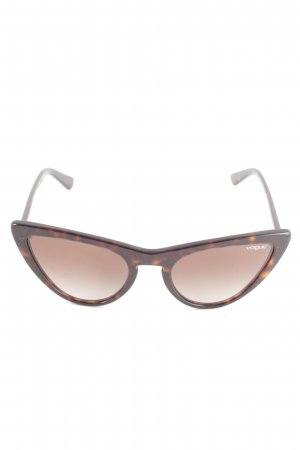 Vogue Oval Sunglasses black brown-brown '50s style