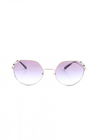 Vogue Retro Brille lila-blau Farbverlauf Casual-Look