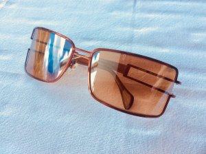 VOGUE Sonnenbrille mit karamellfarben verspiegelten Gläsern rechteckig