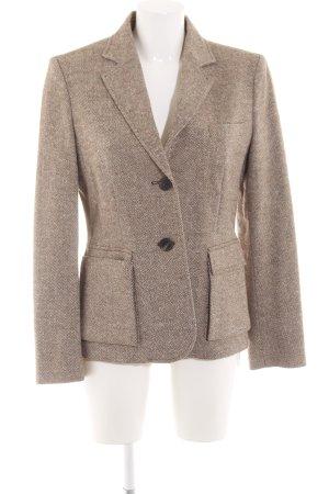 Vogue Tweed Blazer cream-brown allover print business style