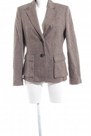 Vogue Blazer Tweed blanco-marrón oscuro moteado estilo dandy